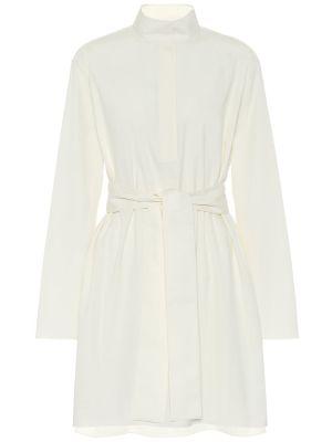 Ватное хлопковое белое платье мини The Row