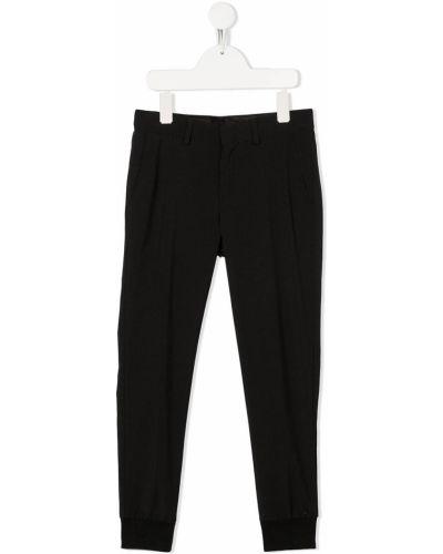 Деловые шерстяные черные брюки узкого кроя Karl Lagerfeld Kids