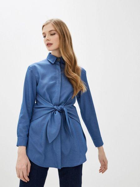 Блузка с длинным рукавом весенний синяя Fashion.love.story