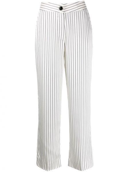 Прямые брюки с воротником с поясом на пуговицах Blazé Milano
