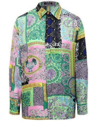 Шелковая рубашка Versace