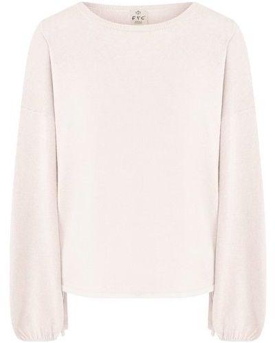 Кашемировый белый свитер Ftc
