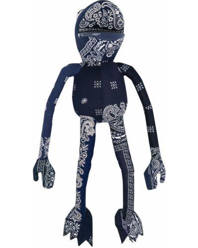 Niebieska bandana bawełniana z printem Readymade