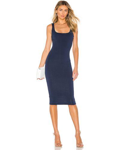 Włókienniczy bawełna ciemnoniebieski sukienka rozciągać Superdown