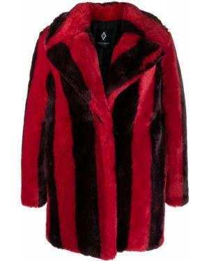Шуба из искусственного меха - красная Marcelo Burlon. County Of Milan
