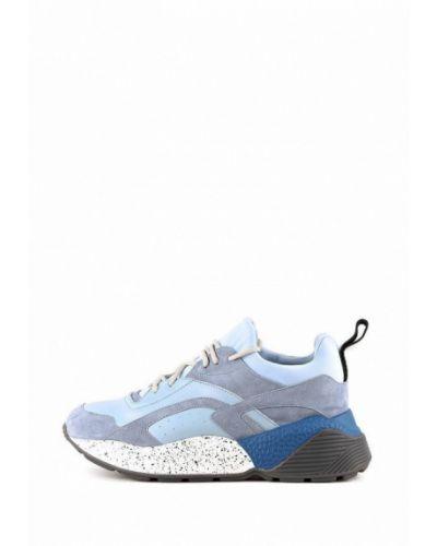 Кожаные кроссовки - голубые Sasha Fabiani