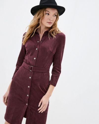 Фиолетовое платье-рубашка Raya