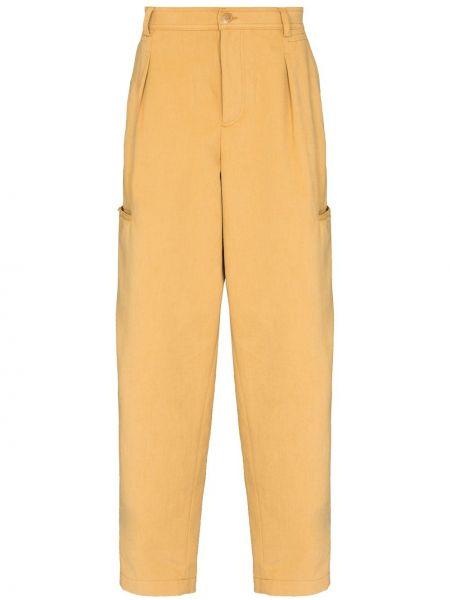 Spodni żółty bojówki z paskiem wysoki wzrost Jacquemus