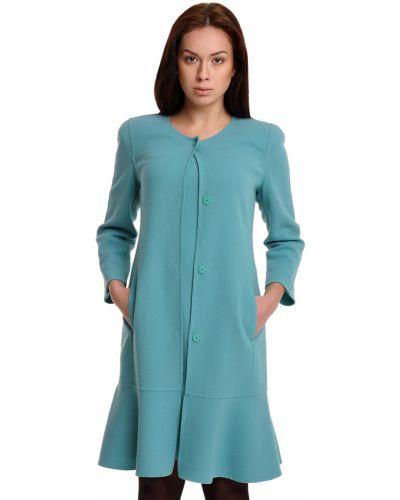 Шерстяное пальто - бирюзовое Armani Collezioni