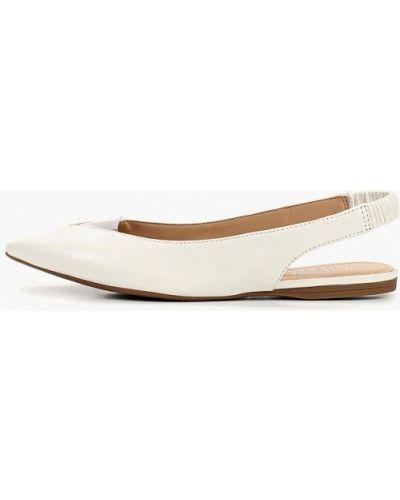 Кожаные туфли с открытой пяткой белый Arezzo