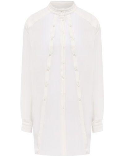 Шелковая блузка - белая Isabel Benenato