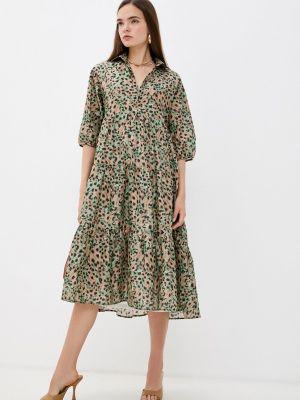 Прямое платье - хаки Vis-a-vis