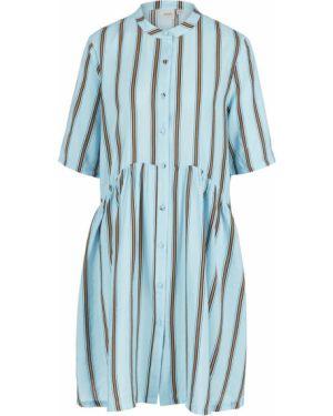 Платье макси в полоску платье-рубашка Ichi