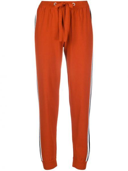 Красные спортивные брюки с поясом из вискозы на шнурках Mrz
