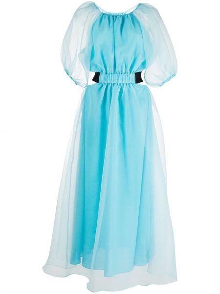 Платье мини короткое - синее Cynthia Rowley