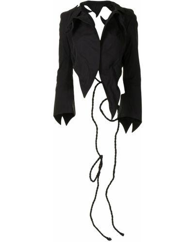 Пиджак с открытой спиной - черный Yohji Yamamoto