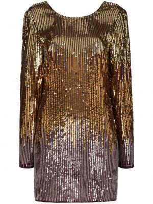 Złota sukienka mini z cekinami Rixo