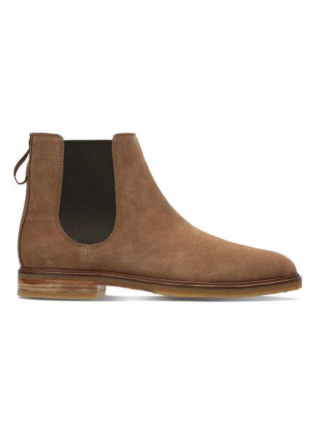 Ботинки челси кожаные замшевые Clarks