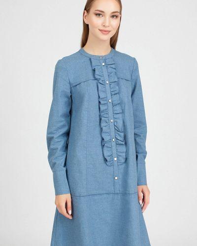 Платье - голубое Serginnetti