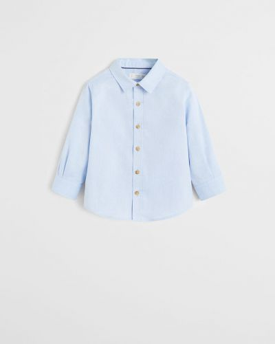 Рубашка с узором однотонная Mango Kids
