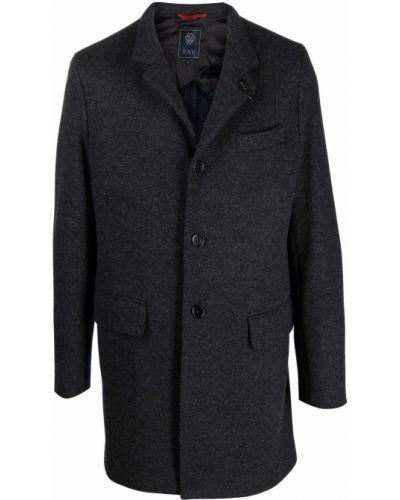 Серое американское пальто Fay