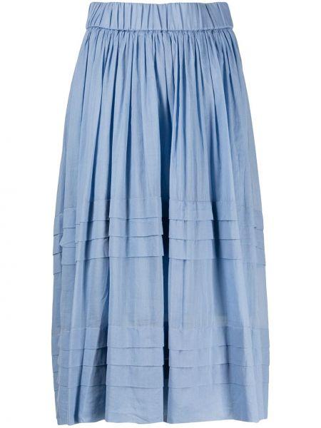 Плиссированная юбка на резинке миди Peserico