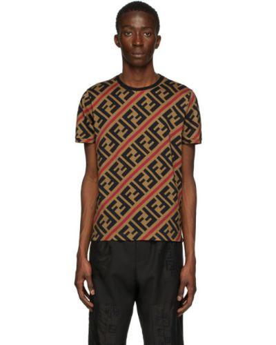 Koszula krótkie z krótkim rękawem z kołnierzem z logo Fendi