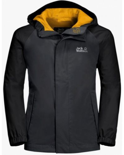 Черная куртка Jack Wolfskin