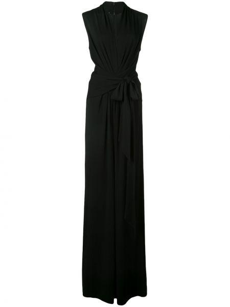 Комбинезон черный с глубоким вырезом Michael Kors Collection