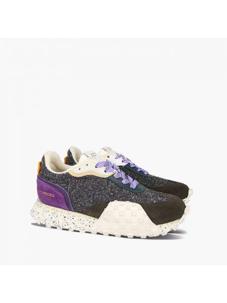 Малиновые кроссовки со складками Filling Pieces