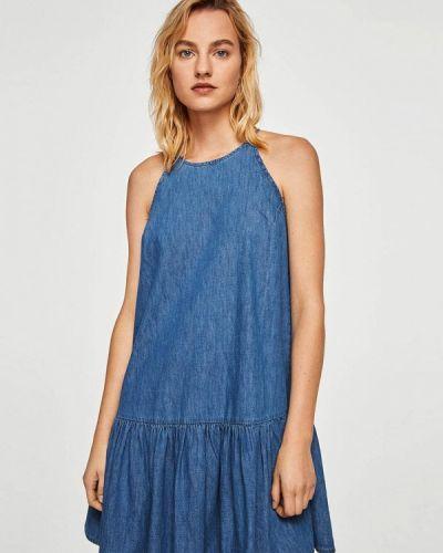 Синее платье Mango