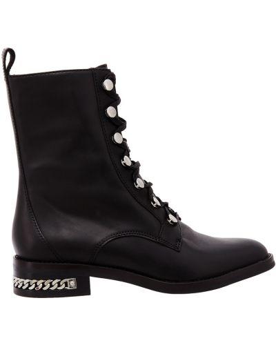 Кожаные ботинки черные кожаные What For