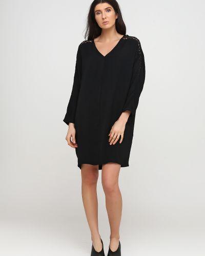 Свободное черное платье свободного кроя Kookai