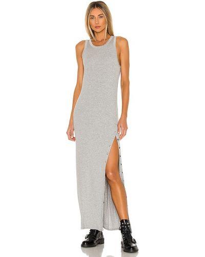 Облегающее платье макси - серебряное La Made