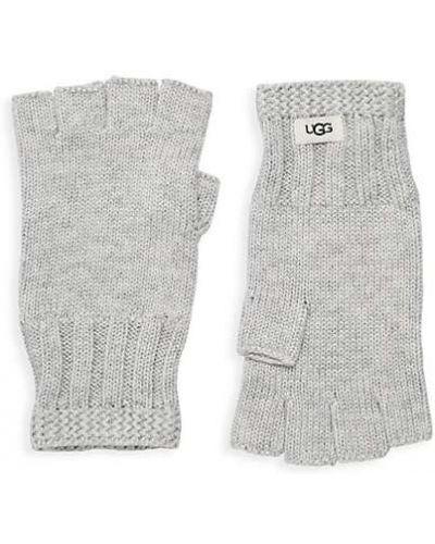 Prążkowane rękawiczki bez palców wełniane Ugg