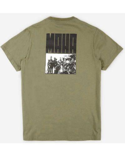 Зеленая футболка Maharishi