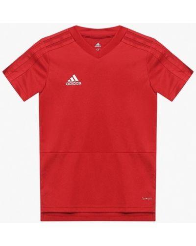 Футболка футбольный красный Adidas