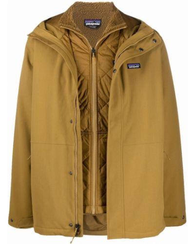 Стеганая куртка - коричневая Patagonia