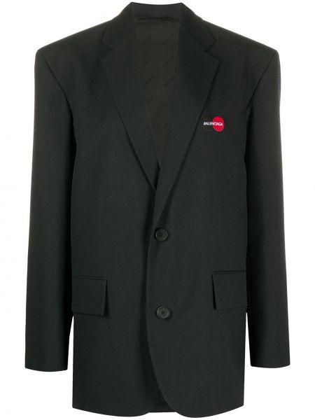 Пиджак черный с заплатками Balenciaga