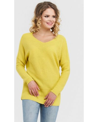 Желтый пуловер 2018 Vay