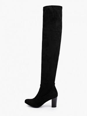 Черные ботфорты осенние Caprice