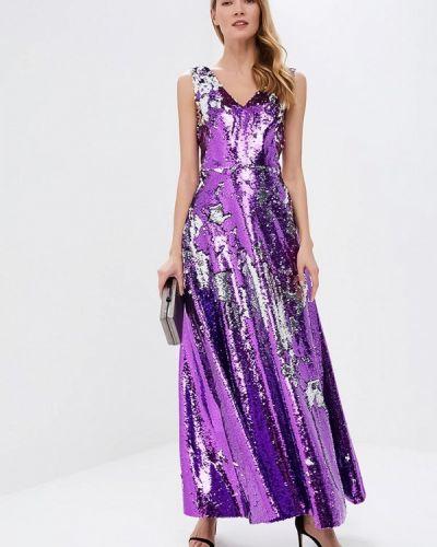 Вечернее платье фиолетовый серебряный Tutto Bene