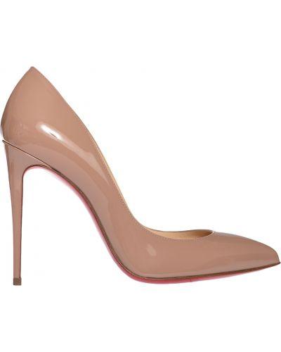 Кожаные туфли лаковые на каблуке Christian Louboutin