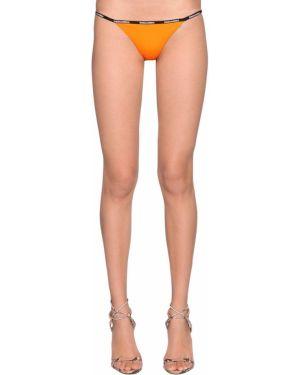 Pomarańczowy strój kąpielowy z printem Dsquared2