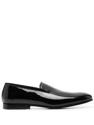 Лаковые кожаные черные лоферы Doucal's