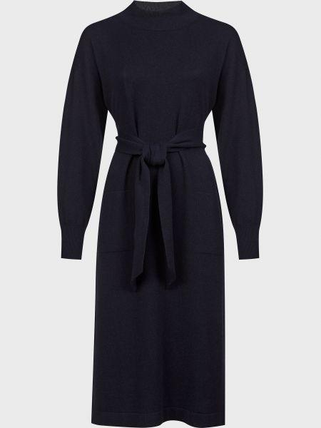 Шелковое платье - синее Peserico