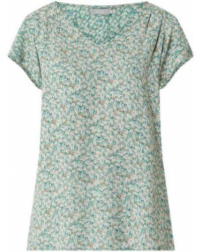 Zielona bluzka w kwiaty krótki rękaw Fransa