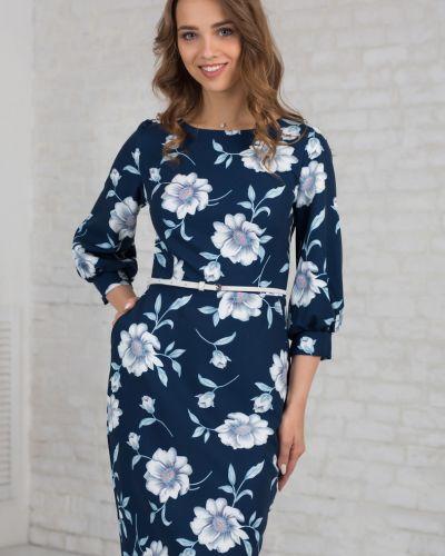 Платье с поясом платье-сарафан из вискозы азалия