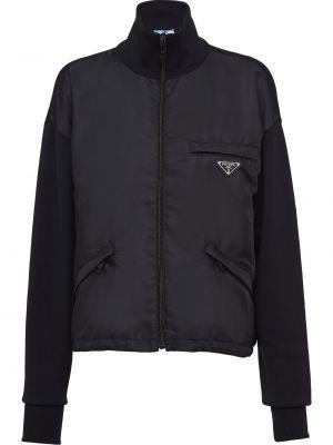 Длинная куртка - черная Prada
