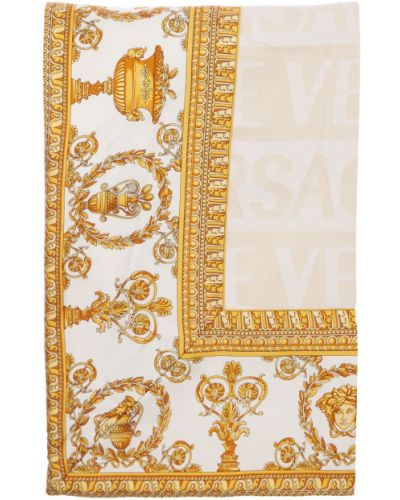 Biały szlafrok Versace